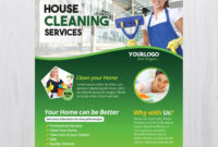 Cleaning Services – Download Free Psd Flyer Template – Free in Cleaning Brochure Templates Free