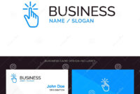 Click, Finger, Gesture, Gestures, Hand, Tap Blue Business with Push Card Template