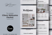 Client Welcome Packet Canva Templateolga Davydova On regarding Welcome Brochure Template