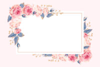 Climbing Roses – Rsvp Card Template (Free In 2020 Inside Free Printable Blank Greeting Card Templates