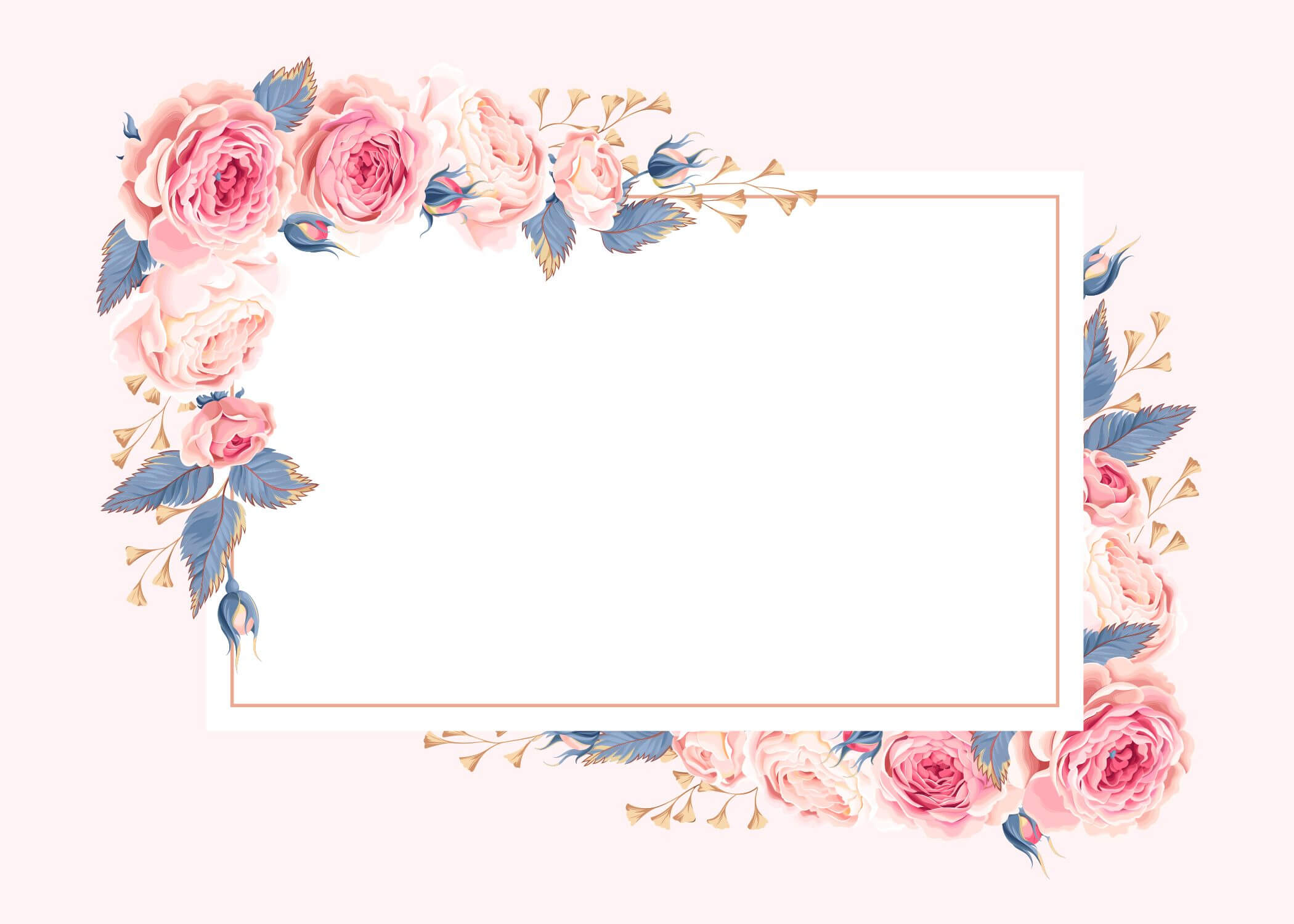 Climbing Roses - Rsvp Card Template (Free In 2020 Inside Free Printable Blank Greeting Card Templates