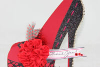 Cloth, Paper Crafts And More: High Heel Shoe 3D Cards pertaining to High Heel Shoe Template For Card