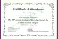 Cme Certificate Template ] – Pics Photos Phd Certificate in Certificate Of Attendance Conference Template