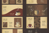 Coffee Business Card Templates Set Royalty Free Cliparts throughout Coffee Business Card Template Free