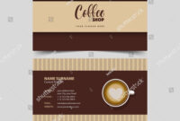 Coffee Shop Business Card Design Template Stock Vector within Coffee Business Card Template Free
