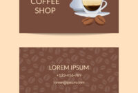 Coffee Shop Or Company Business Card intended for Coffee Business Card Template Free