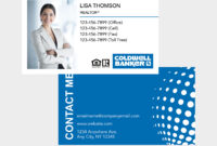 Coldwell Banker Business Card with Coldwell Banker Business Card Template