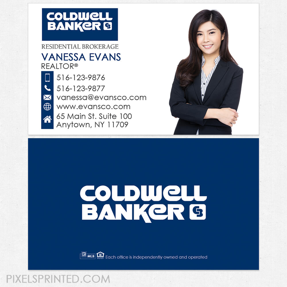 Coldwell Banker Business Cards | Realtor Business Cards With Coldwell Banker Business Card Template