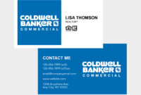 Coldwell Banker Business Cards within Coldwell Banker Business Card Template