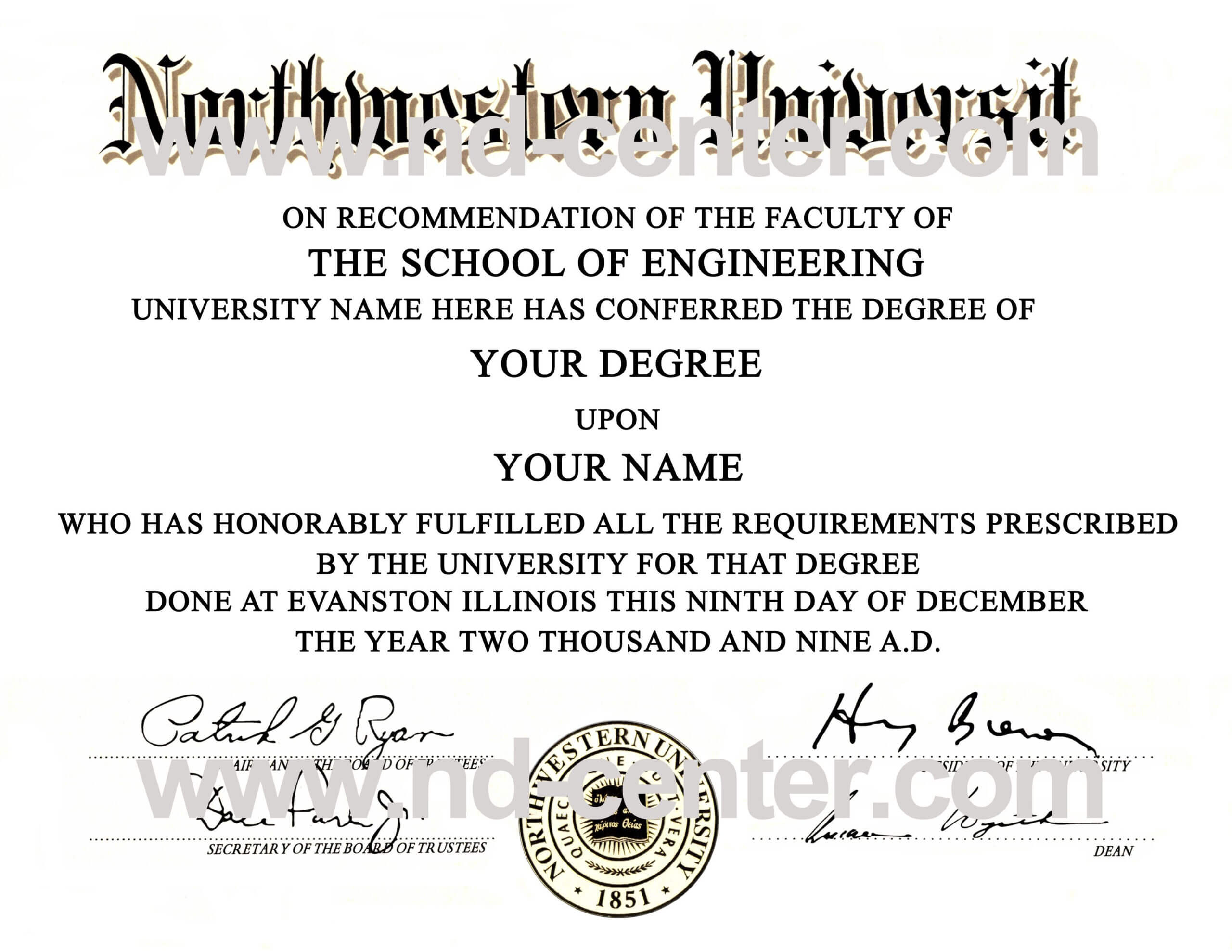 College Degree Certificate Templates Quality Fake Diploma With Regard To University Graduation Certificate Template