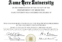 College Diploma Template Pdf | College Diploma, Certificate for Doctorate Certificate Template
