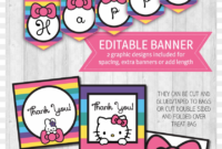 Color Pages ~ Astonishing Printable Hello Kitty Image with regard to Hello Kitty Banner Template