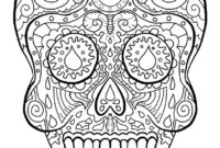 Color Pages ~ Free Easy Printable Sugar Skull Color Page For throughout Blank Sugar Skull Template