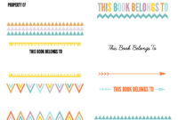 Color Pages ~ Free Printable Classroom Library Labels 159514 throughout Bookplate Templates For Word
