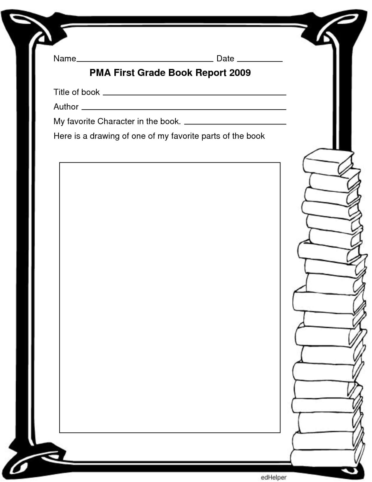 Color Pages: Tremendous Open Book Template Printable Picture For Skeleton Book Report Template