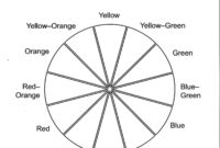 Color Wheel Worksheet Printable | Complementary Color Wheel intended for Blank Color Wheel Template