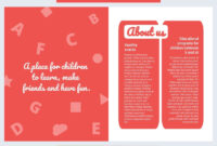 Colorful Daycare Brochure Template – Flipsnack pertaining to Daycare Brochure Template