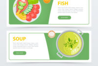 Colorful Horizontal Food Banner Template inside Food Banner Template