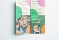Colorful School Brochure – Tri Fold Template | Download Free regarding Play School Brochure Templates