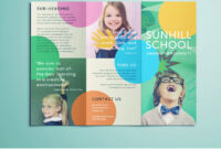 Colorful School Brochure – Tri Fold Template | Download Free within Tri Fold School Brochure Template