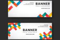 Colorful Website Banner Design Vector Set   Free Image inside Free Online Banner Templates