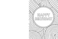Coloring Book : Birthday Coloring Cards Freentable With Throughout Foldable Birthday Card Template