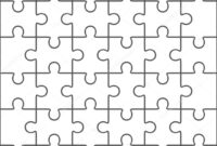 Coloring Book : Jigsaw Puzzle Blank Template Pieces Stock with regard to Blank Jigsaw Piece Template