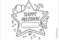 Coloring ~ Printable Birthday Coloring Pages Amazing Card with regard to Template For Cards To Print Free