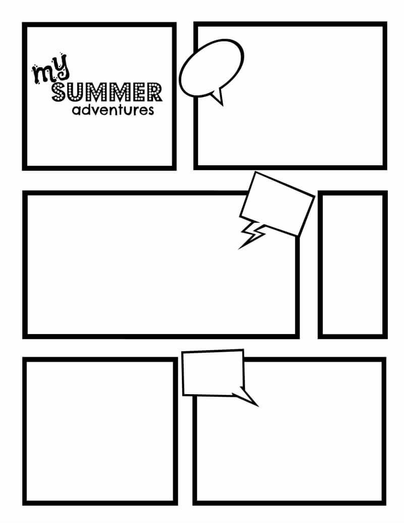 Comic Strips.pdf   Comic Strip Template, Comic Book Template Throughout Printable Blank Comic Strip Template For Kids