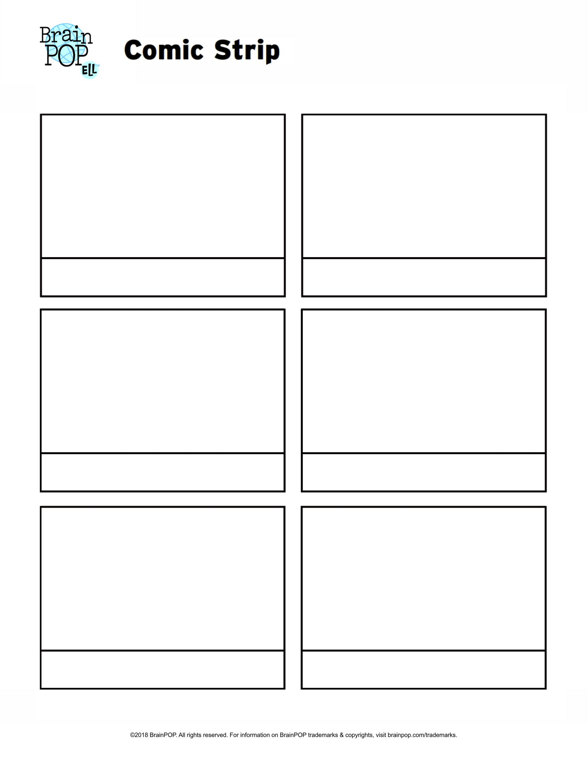 Comic Strips Template – Ironi.celikdemirsan With Printable Blank Comic Strip Template For Kids
