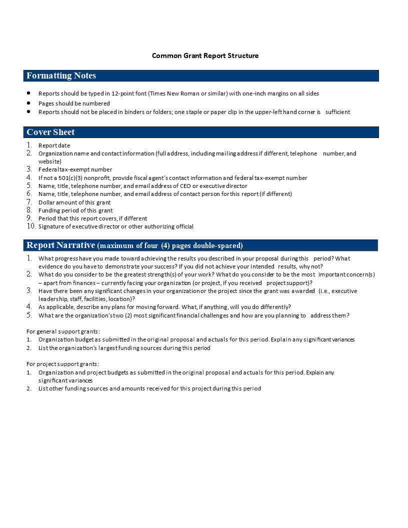 Common Grant Report | Templates At Allbusinesstemplates Within Funding Report Template