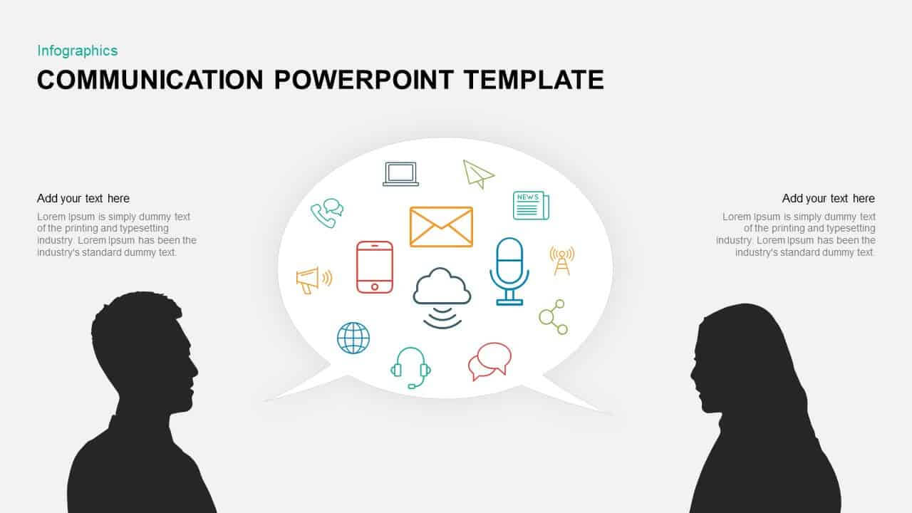Communication Powerpoint Template & Keynote Diagram Pertaining To Powerpoint Templates For Communication Presentation