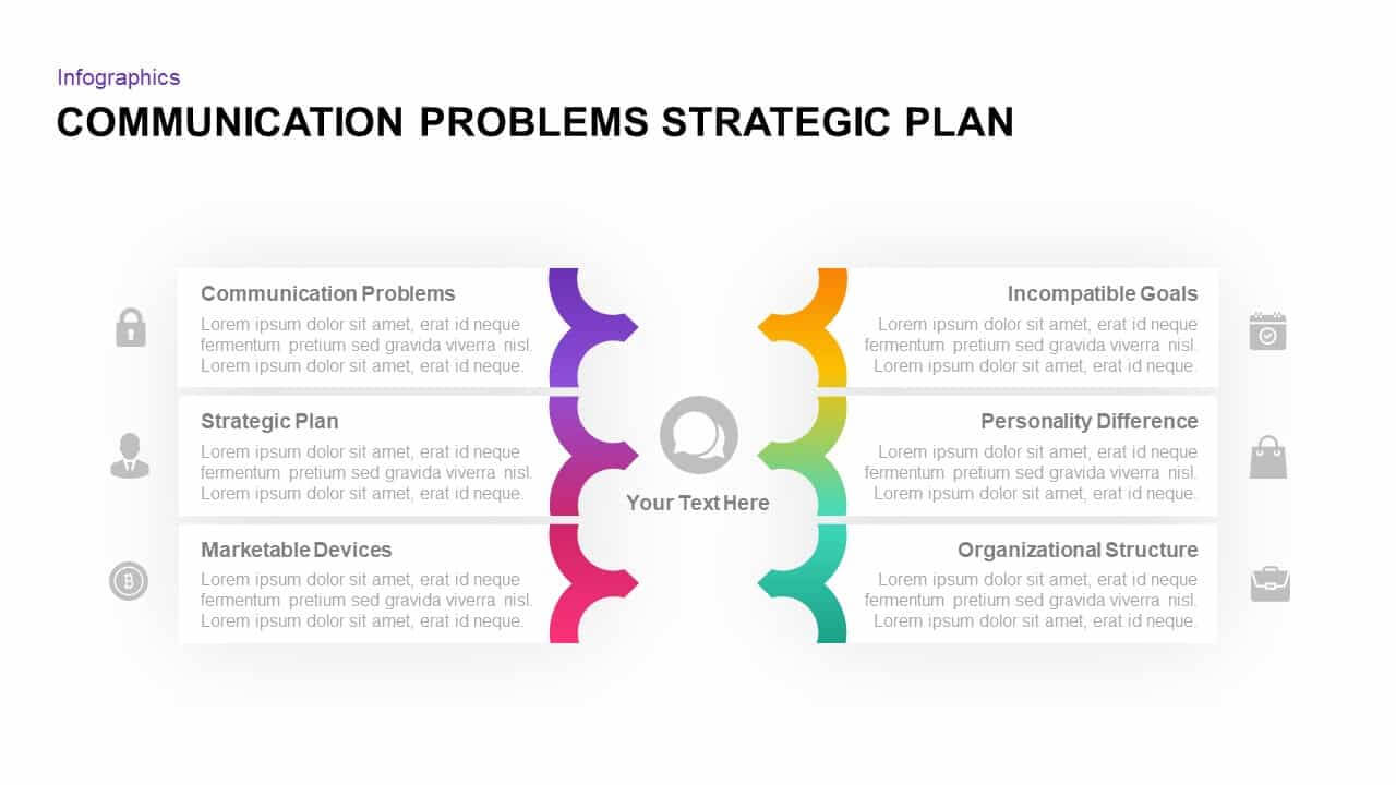 Communication Problems Strategic Plan Template - Slidebazaar With Strategy Document Template Powerpoint