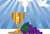 Communion Card Template Stock Illustration. Illustration Of for First Holy Communion Banner Templates