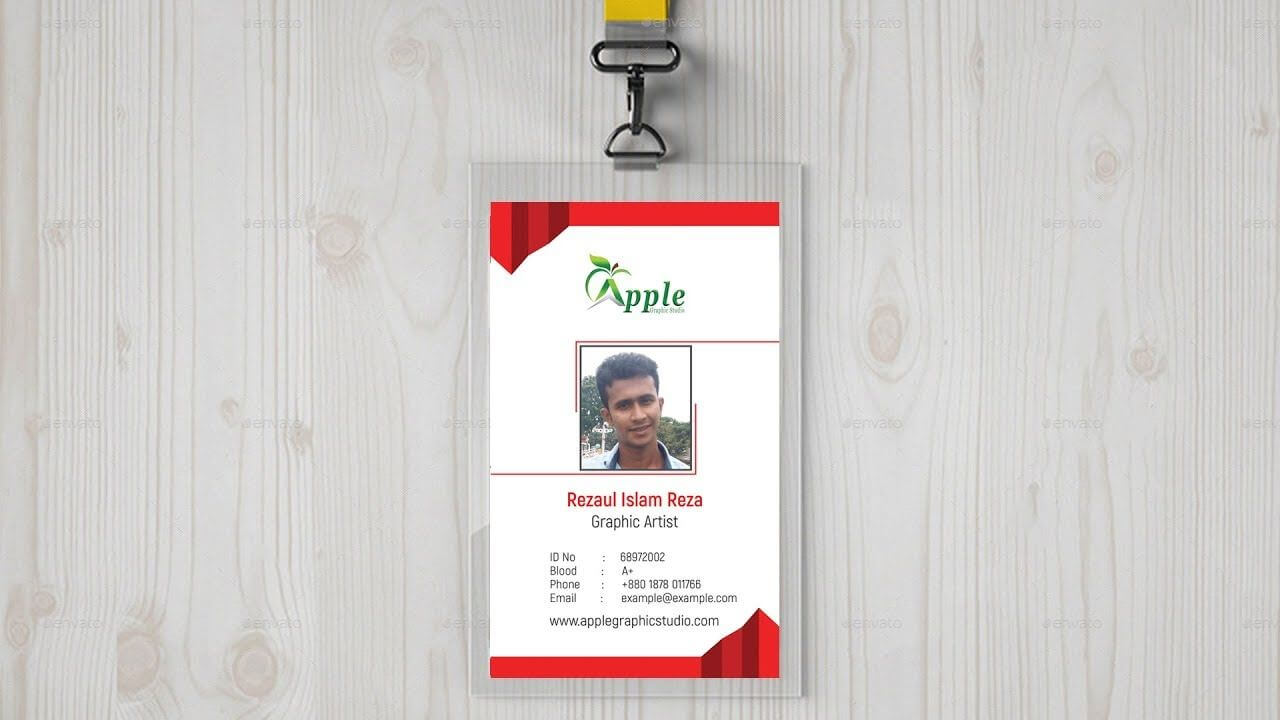 Company Id Card Design | Id Badge Maker - Photoshop Tutorial In Faculty Id Card Template