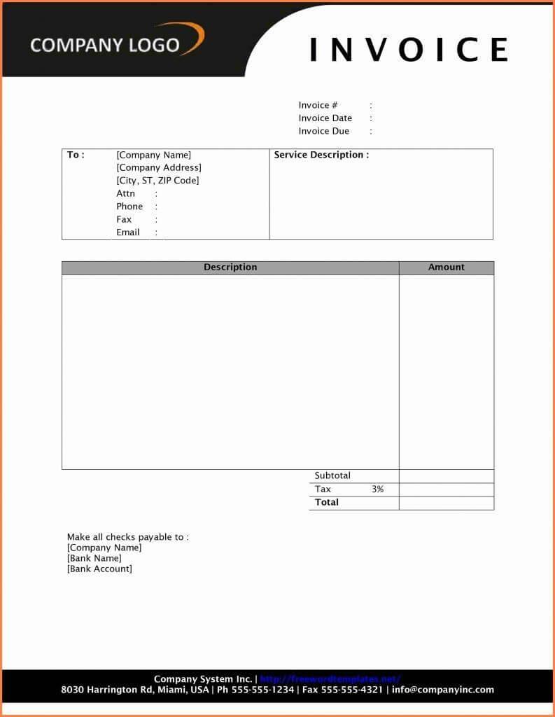 Company Letterhead Template Word 2010 Unique 5 Letterhead Regarding Invoice Template Word 2010