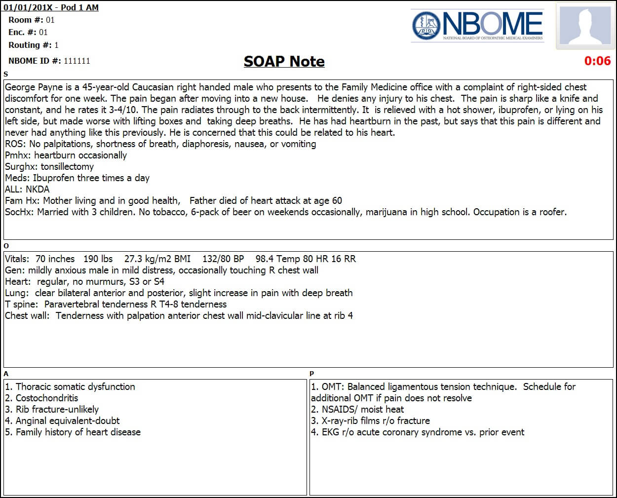 Completed Esoap Note Sample — Nbome Throughout Soap Report Template