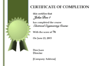 Completion Certificate Templates Free Download | Cv Sample inside Free Training Completion Certificate Templates