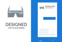 Computer, Computing, Digital, Glasses, Google Grey Logo for Google Search Business Card Template
