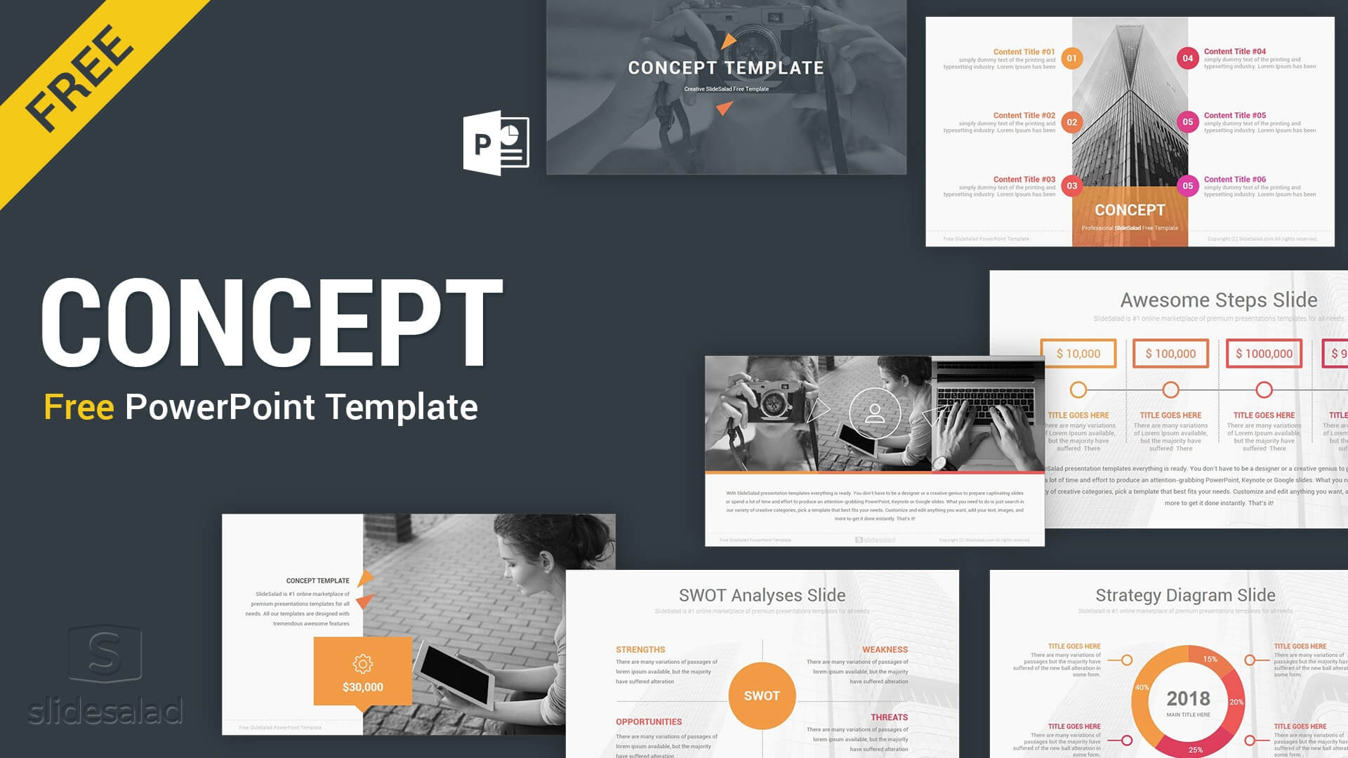 Concept Free Powerpoint Presentation Template - Free Throughout Raf Powerpoint Template