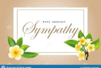 Condolences Sympathy Card Floral Frangipani Or Plumeria pertaining to Sorry For Your Loss Card Template