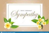 Condolences Sympathy Card Floral Frangipani Or Plumeria throughout Sympathy Card Template