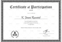 Conference Certificate Of Participation Template – Forza for Templates For Certificates Of Participation