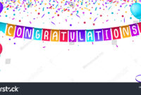 Congratulations Banner Template Balloons Confetti Isolated in Congratulations Banner Template