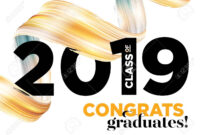 Congratulations Graduates Class Of 2019 Vector Logo. Graduation.. in Graduation Banner Template