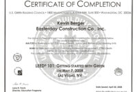 Construction Certificate Of Completion Template ] – Doc regarding Construction Certificate Of Completion Template