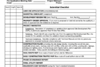 Construction Documents (Cds) Checklist inside Drainage Report Template