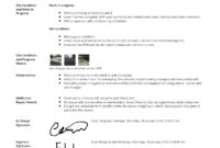 Construction Site Visit Report Template And Sample [Free To Use] with regard to How To Write A Work Report Template