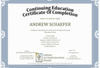 Continuing Education – Orlando Chapter Fsea for Ceu Certificate Template