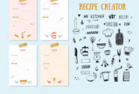 Cookbook Design Template | Modern Recipe Card Template Set intended for Recipe Card Design Template